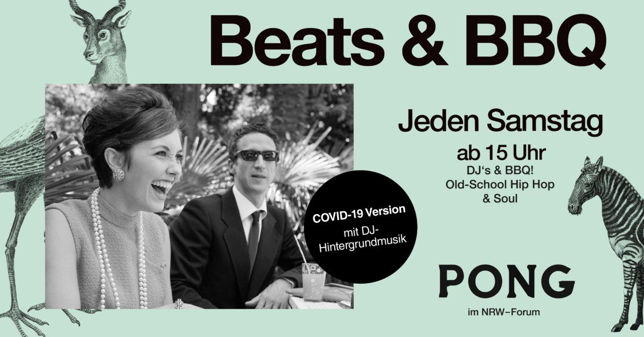 Veranstaltung Beats and BBQ jeden Samstag ab 15 Uhr im Pong im NRW Forum Covid 19 Version mit DJ Hintergrundmusik