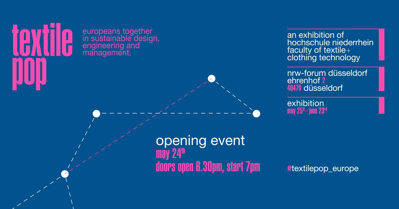 Infografik zur Ausstellung textile pop