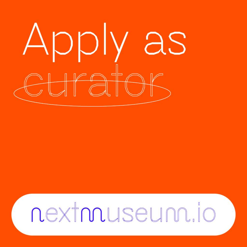 info graphic with the Text: Apply as curator