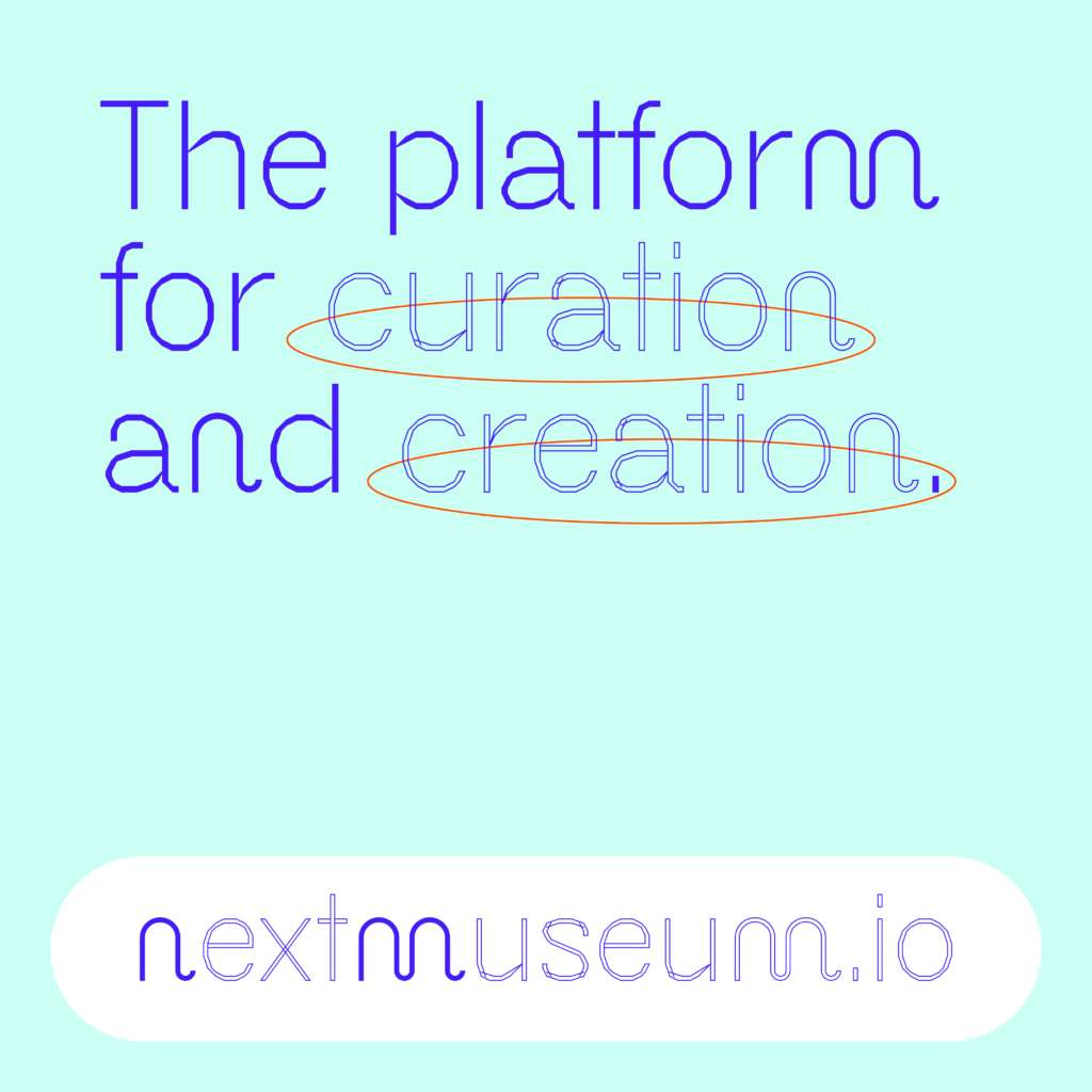 Info graphic with the Text: The platform, the curation and the creation